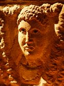 Ancient etruscan art in the Archaeological Museum, Siena, Italy
