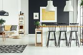 Contemporary Rustic Living Room poster