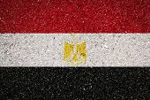 National Flag Of Egypt On A Stone Background.the Concept Of National Pride And Symbol Of The Country poster