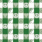 Peace Plaid_Green