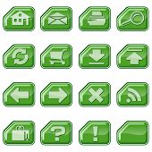 Web Icons B, Green