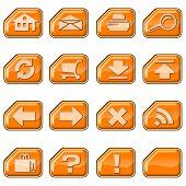 Web Icons B, Orange