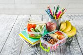 Healthy School Lunch Box poster