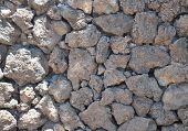 stock photo of fieldstone-wall  - Close - JPG