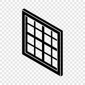 Lattice Window Frame Icon. Simple Illustration Of Lattice Window Frame Vector Icon For Web poster