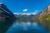 Norway Geiranger. Scandinavian Landscape. Geirangerfjord. Beautiful Landscape. poster