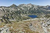 Amazing Landscape Of Popovo Lake, Dzhangal And Polezhan Peaks From Dzhano Peak, Pirin Mountain, Bulg poster