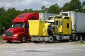 stock photo of 18-wheeler  - Two 18 - JPG