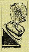 Old Clockwork-engraving