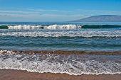 Постер, плакат: Пляж океан и волны