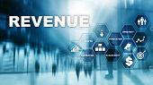 Increase Revenue Concept. Planing Growth And Increase Of Positive Indicators In His Business. Mixed  poster