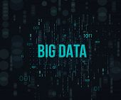 Big Data.stage A Process Of Change Or Forming Development Big Data. Element With Dots. Graphic Abstr poster