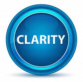 Clarity Isolated On Eyeball Blue Round Button poster