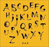 Alfabeto de caligrafía