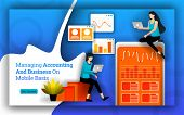 Accounting Statistics Simplified To Managing Accounting And Business On Mobile Basis. Bookkeeping So poster