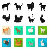 Vector Illustration Of Breeding And Kitchen Logo. Collection Of Breeding And Organic Stock Vector Il poster