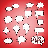 Set of speech icons