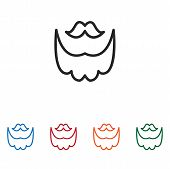 Mustache And Beard Icon Isolated On White Background. Mustache And Beard Icon In Trendy Design Style poster
