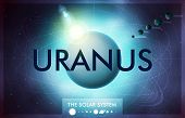 picture of uranus  - Vector Solar System  - JPG