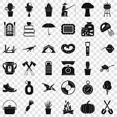 Hobby Icons Set. Simple Style Of 36 Hobby Vector Icons For Web For Any Design poster