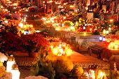 image of polonia  - A lot of lights on Wolski Cemetery in Warsaw Poland during All Saints Day - JPG