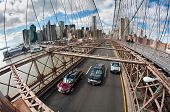 cars on Brooklyn Bridge