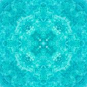 Seamless Symmetrical Pattern Abstract Ocean Water Texture poster