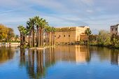 Jnan Sbil Or Bou Jeloud Garden, Royal Park In Fez With Lake And Palms, Fez Morocco poster