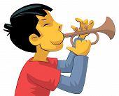 Trumpet Player Teenage Boy