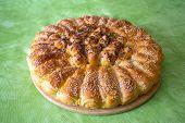 Traditional Croatian Pogaca Cake Bread View, Domestic Food Of Croatia poster