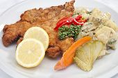 Vienna Schnitzel With Vegetables