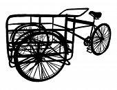 Bicicleta de carga pintados mano