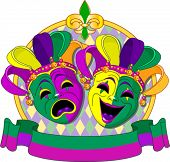 pic of comedy  - Mardi Gras Comedy and  Tragedy Masks design - JPG