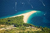 Golden Cape on Brac island in Croatia
