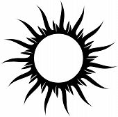 picture of dessin  - Vector black and white star for tattoo - JPG