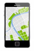 Vector Smartphone With Map