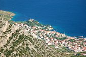 View from Vidova Gora on Bol on Brac island, Croatia