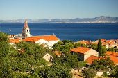 Postira on Brac island, Croatia