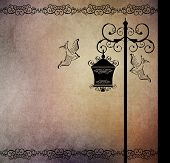 Street lantern and birds
