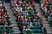 MELBOURNE - JANUARY 23: Rod Laver arena crowd at the Australian Open on January 23, 2013 in Melbourn