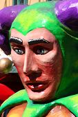 Mardi Gras Jester On A Float