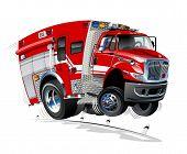 Vector Cartoon Rescue Truck