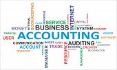 picture of financial audit  - A word cloud of accounting related items - JPG