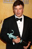 LOS ANGELES - JAN 27:  Alec Baldwin  in the press room at the 2013 Screen Actor's Guild Awards at th