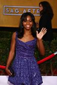 LOS ANGELES - JAN 27:  Gabby Douglas arrives at the 2013 Screen Actor's Guild Awards at the Shrine A