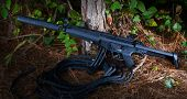 picture of assault-rifle  - Adjustable stock and a silencer are features on this rifle - JPG