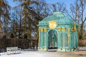 Trellised Pavilion In Park Of Royal Palace Sanssouci