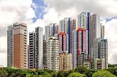 Aberdeen's Colorful High-rise Apartments in Hong Kong