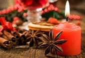 stock photo of christmas spices  - Christmas background  - JPG