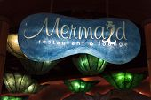 Mermaids Lounge Sign At The Silverton Hotel In Las Vegas, Nv On August 20, 2013